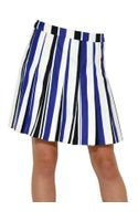 Marni Striped Cotton Pleated Skirt