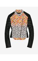 Yigal Azrouel Floral Patch Leather Jacket - Lyst