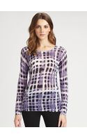 Lafayette 148 New York Printed Long sleeve Top - Lyst