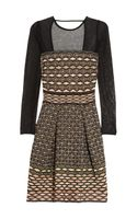 M Missoni Cutout Knitted Dress - Lyst