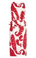 Giambattista Valli Printed Cottonblend Brocade Peplum Dress