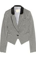 Boy by Band Of Outsiders Gingham Linenblend Cropped Jacket - Lyst