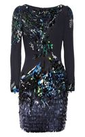 Matthew Williamson Sequined Silk Dress