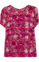 Tory Burch Alexandra Devoré Satintwill and Chiffon Top - Lyst