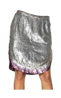 Maurizio Pecoraro Sequined Silk Georgette Skirt