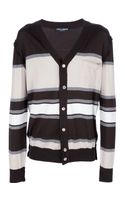 Dolce & Gabbana Striped Cardigan - Lyst
