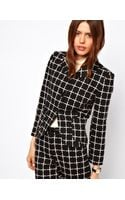ASOS Collection Ponte Check Blazer