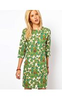 ASOS Collection Asos Shift Dress in Paisley Print