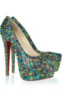 Christian Louboutin Daffodile 160 Crystalembellished Leather Pumps - Lyst