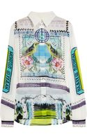 Mary Katrantzou Gala Printed Silk-georgette Blouse