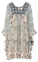 Anna Sui Printed Silk Chiffon Mini Dress