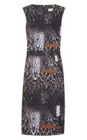 Preen Line Ellen Leopard Print Stretch Cotton Drill Dress - Lyst