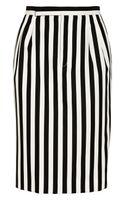 Marc Jacobs Striped Twill Skirt