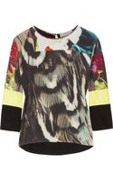 Preen Line Kiara Printed Silk and Jersey Top