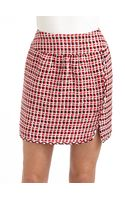 Moschino Textured Checked Skirt