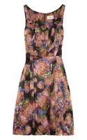 Erdem Printed Silk Satin Dress - Lyst