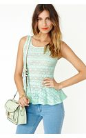 Nasty Gal Fresh Laced Peplum Tank - Lyst