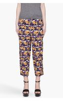 Marni Printed Silk Trousers