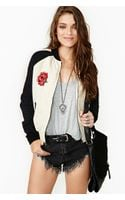 Nasty Gal Rose Tattoo Bomber Jacket