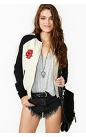 Nasty Gal Rose Tattoo Bomber Jacket - Lyst