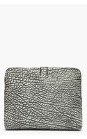 3.1 Phillip Lim Black and Grey 31 Minute Bag Bull Grain Clutch