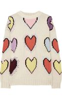 Joseph Heart Intarsia Wool Sweater - Lyst
