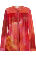 Matthew Williamson Printed Silk Crepe Blouse