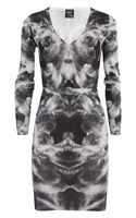 McQ by Alexander McQueen Printed Silk and Cotton-Blend Sweater Dress