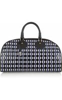 Proenza Schouler Kiri Woven Leather and Patentleather Bowling Bag