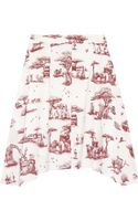 Carven Safari Print Cotton Skirt