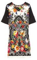 Etro Floral and Paisley Print Stretch Cady Dress