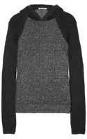 T By Alexander Wang Two-Tone Hooded Jersey and Knitted Top - Lyst