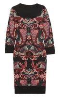 McQ by Alexander McQueen Intarsia Knitted Wool Dress
