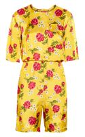 Marni Floralprint Satin Playsuit