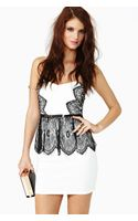 Nasty Gal Tainted Lace Peplum Dress - Lyst