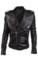 Blk Dnm Leather Jacket - Lyst