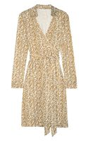 Diane Von Furstenberg New Jeanne Printed Silk Jersey Wrap Dress - Lyst