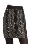 Adam Embellished Silk Skirt Black - Lyst