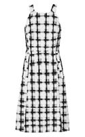 Marni Checked Cotton-voile Dress - Lyst