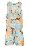 Matthew Williamson Printed Silk Playsuit - Lyst
