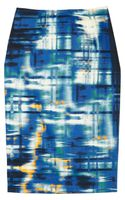 Lela Rose Printed Cotton blend Pencil Skirt