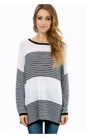Tobi Striped Stripe Sweater - Lyst