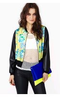 Nasty Gal Heavy Petal Bomber Jacket