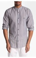 7 For All Mankind Mandarin Collar Shirt - Lyst