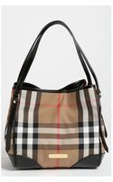 Burberry House Check Small Tote - Lyst