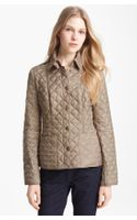 Burberry Brit Kencott Patch Pocket Quilted Coat