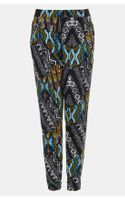 Topshop African Print Tapered Pants