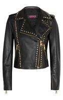 Versus  Studded Leather Biker Jacket