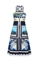 Mary Katrantzou Postage Stamp Print Dress