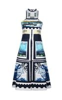 Mary Katrantzou Postage Stamp Print Dress - Lyst